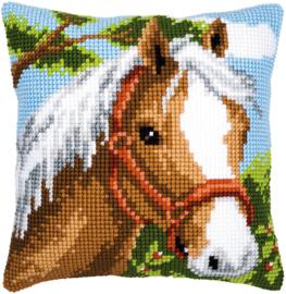 Paard kruissteekkussen Vervaco