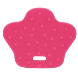 Roze dierenpoot Siliconen bijtring Opry