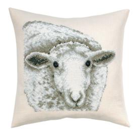 White Sheep Telpatroon kruissteekkussen - Permin