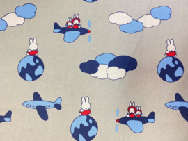 Miffy Airplane Nijntje vliegtuig - Camelot Fabrics