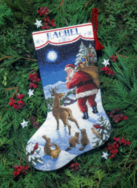Santa's Arrival Stocking Aida Telpakket dimensions