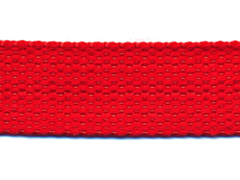 Rood 25mm Cotton Look Tassenband