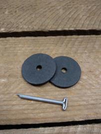 22mm Poppen Scharnier met Splijtpen