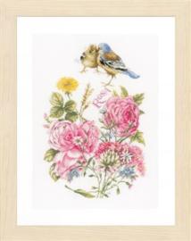 Marjolein Bastin Finches and Roses Lanarte Telpakket