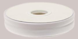 Gebroken wit 20mm katoen - biaisband gevouwen