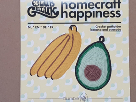 Potholder Banana and Avocado Club Geluk Haakpakket