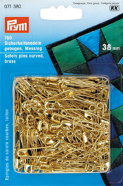 38mm Gebogen Messing Veiligheidsspelden