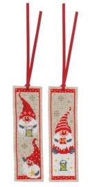 Kerstkabouters set van 2 boekenleggers Vervaco