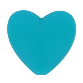 Turquoise hartjes Siliconen kralen Opry