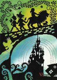 Fairy Tales: Wizord of Oz Aida telpakket Bothy Threads