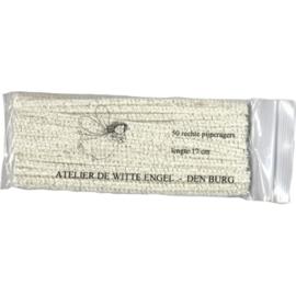 Pijpenragers, 17 cm, zakje van 50 stuks, wit