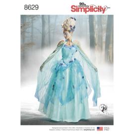 8629 R5 Simplicity  Misses' costuum met vuurvliegjes (34-42)