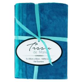 02 Gewolkte Bundel blauw tinten Tissu de Marie