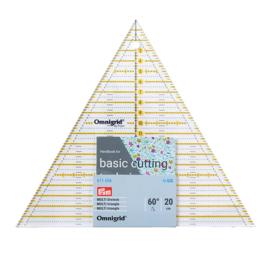 Driehoek 60° 20cm Omnigrid Patchwork liniaal Prym