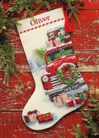 Santa's Truck kerstsok Aida Telpakket Dimensions