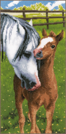 Paard met Veulen Aida telpakket Vervaco