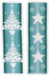Nordic Christmas Boekenleggers Vervaco Borduurpakket