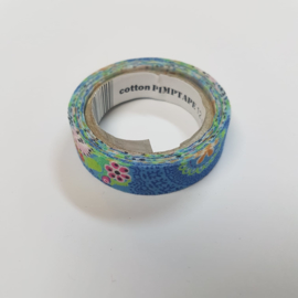 Blauwe Flower Power 2mx12mm Pimptape Oaki Doki