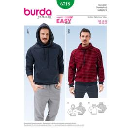 6718 Sweater in Variatie Burda Style Maat 46 - 56