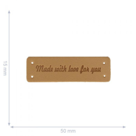 Made with Love For You Leren Label