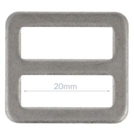 20mm Gesp metaal Oud Zilver