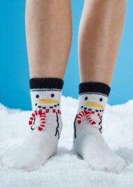 Sneeuwpop Kerst Sokken Gebreid Schachenmayr Regia
