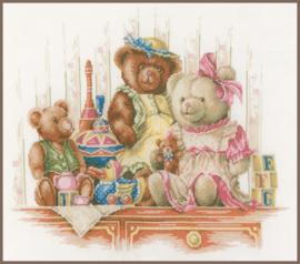 Speelgoed en beren Eavenwave Borduurpakket Lanarte
