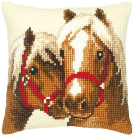 Paardenvriendschap Kruissteekkussen Vervaco
