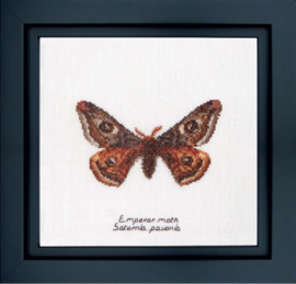 Emperor Moth Borduurpakket Aida Thea Gouverneur