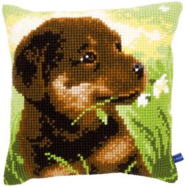 Rottweiler Pup Kruissteekkussen Vervaco