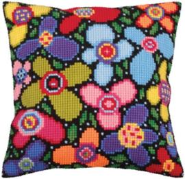 Flower Glade voorbedrukt Kruissteekkussen Collection D'Art