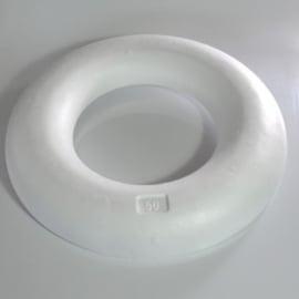 50cm Krans Half Plat Styropor / Piepschuim