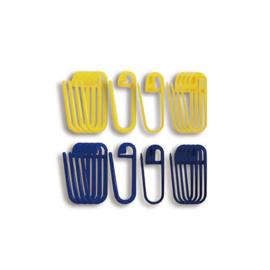 Steekmarkeerders geel/blauw Seeknit