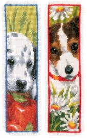 Hondjes aida boekenleggers telpakket - Vervaco