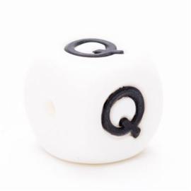 Letter Q Siliconen kraal 12mm