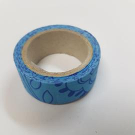 Blauwe Simpele Bloemen 2mx20mm Pimptape Oaki Doki