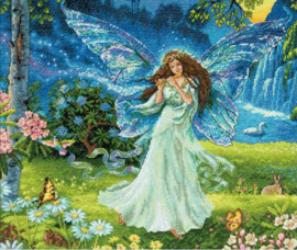 Spring Fairy Aida telpakket - Dimensions