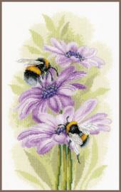 Dansende bijen Eavenwave borduurpakket - Lanarte