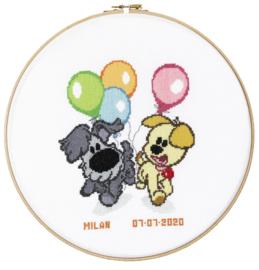 Woezel & Pip Geboorte Ballonnen Aida telpakket Pako