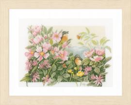 Vogeltjes en wilde rozen Evenwaeve Telpakket Lanarte