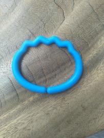 Donkerblauwe Ribbel Kunststof Bijtring