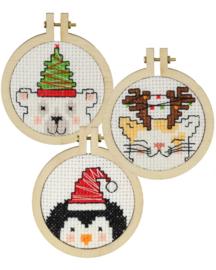 3 Leuke kersthangers voor in de kerstboom telpakket Pako