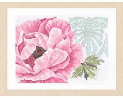 Telpakket kit Roze bloem met ornament - Lanarte - PN-0008202