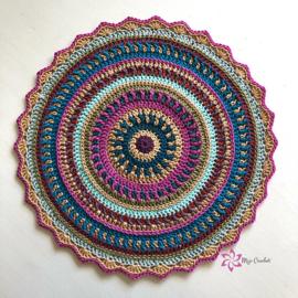 All Colours Mandala Gehaakt Scheepjes Cotton 8 en Catona