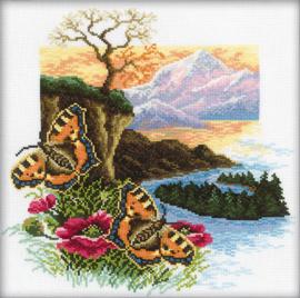 Butterflies Collection Aida Borduurpakket RTO