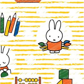 Miffy at School 01 - Nijntje op School - Camelot Fabrics