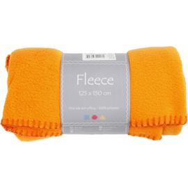 Oranje Fleece deken