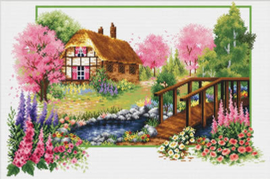 Spring Cottage Aida Needleart World