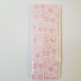 Pink Flowers Fantasy Bias Binding Fillawant