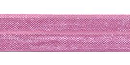 Roze 20mm Elastisch Biaisband